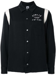 Myne Embroidered Detail Shirt Black