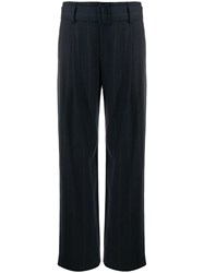 Vince Belted Wide Leg Trousers Blue