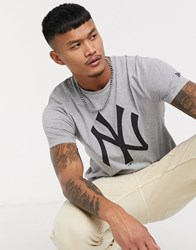 New Era York Yankees Logo T Shirt In Grey