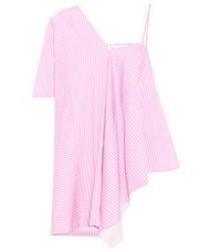 Maison Martin Margiela Striped Cotton Top Pink
