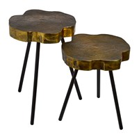 Pols Potten Tree Slice Side Table Set Of 2