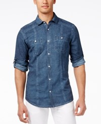 Inc International Concepts Men's Roman Lightweight Long Sleeve Shirt Only At Macy's Navy