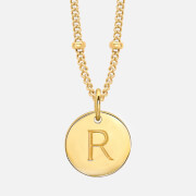 Missoma Women's Silver 'R' Initial Necklace Silver