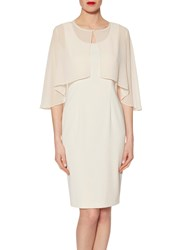 Gina Bacconi Chiffon Cape With Open Back Detail Butter Cream