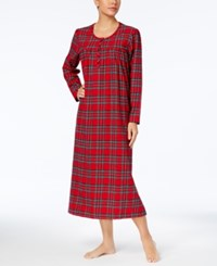 Family Pajamas Women's Holiday Plaid Cotton Nightgown Created For Macy's Brinkley Plaid