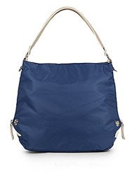 Sondra Roberts Nylon Hobo Bag Navy Bone