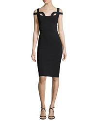 La Petite Robe Di Chiara Boni Every Sleeveless Cutout Jersey Cocktail Dress Black