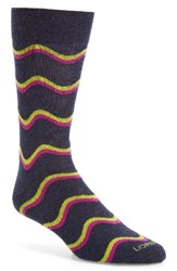 Lorenzo Uomo Men's Freeform Chevron Socks