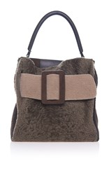 Boyy Shearling Devon Bag Brown