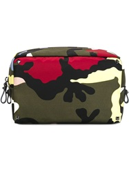 Valentino Garavani Camouflage Wash Bag Multicolour