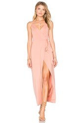 Wyldr Wrap Over Dress Blush