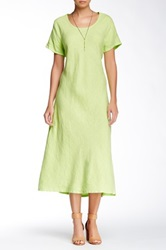 Insight Linen Maxi Tee Dress Yellow