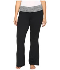 Columbia Plus Size Luminescence Boot Cut Pants Black Jacquard Women's Casual Pants