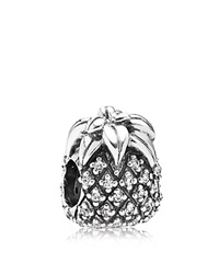 Pandora Design Pandora Charm Sterling Silver And Cubic Zirconia Sparkling Pineapple Moments Collection Silver Clear