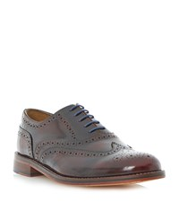 Bertie Braxton Hi Shine Lace Up Brogues Burgundy