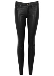 Rag And Bone The Leather Black Skinny Jeans