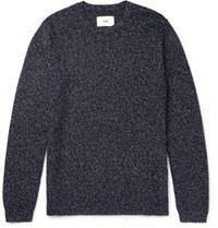 Folk Wool Blend Sweater Navy