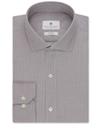 Ryan Seacrest Distinction Non Iron Slim Fit Micro Check Dress Shirt Cocoa