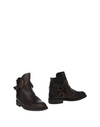 Swear London Ankle Boots Dark Brown