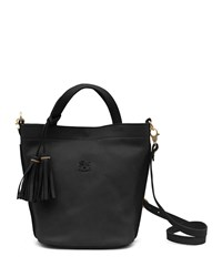Il Bisonte Cowhide Leather Bucket Bag Black