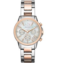 Armani Exchange Ax4331 Stainless Steel And Mother Of Pearl Watch Mother Of Pearl