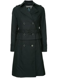 Guild Prime Double Breasted Peplum Coat Blue