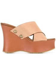 See By Chloe Wedged Sandals Nude Neutrals