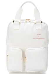 Puma Patch Pocket Backpack Cotton Polyurethane White
