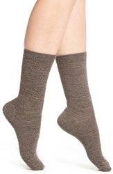 Smartwool Women's Texture Crew Socks Taupe