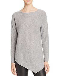 Bloomingdale's C By Asymmetric Cashmere Sweater Slate Cement Twist