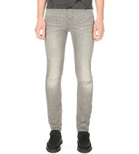 Allsaints Chika Cigarette Slim Fit Tapered Jeans Light Grey