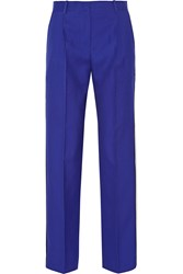 Jonathan Saunders Lucia Wool Twill Wide Leg Pants Blue