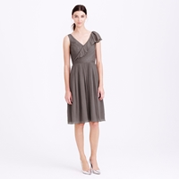 J.Crew Petite Serena Dress In Silk Chiffon