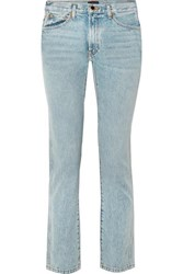 Khaite Kyle Low Rise Straight Leg Jeans Light Blue
