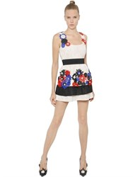 Ungaro Flower Appliques Embroidered Lace Dress