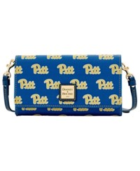Dooney And Bourke Pittsburgh Panthers Daphne Crossbody Wallet Blue