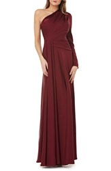 Kay Unger One Shoulder Faille Gown