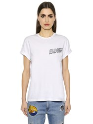 Stella Mccartney All Is Love Embroidered Jersey T Shirt