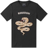Mhi Maharishi Embroidered Adder Tee Black