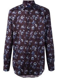 Etro Floral Print Shirt Pink And Purple