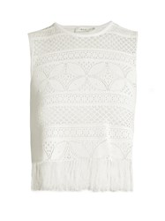 A.L.C. Tucker Floral Lace Top White