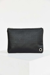 Urban Outfitters Saffiano Medium Pouch Black