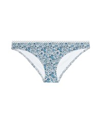 Karla Colletto Lapis Floral Printed Bikini Bottoms Blue