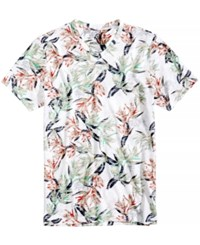 American Rag Men's Safari Floral T Shirt Created For Macy's Bright White