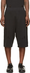 Damir Doma Black Destroyed Heavy Jersey Tjome Shorts