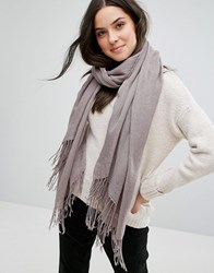Only Oversized Scarf Grey