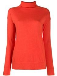 Snobby Sheep Turtleneck Slim Fit Jumper Orange