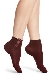 Oroblu Accented Ankle Socks Bordeaux