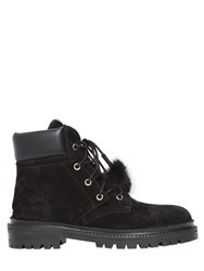 Jimmy Choo 20Mm Elba Suede And Lapin Ankle Boots