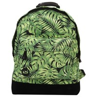 Mi Pac Tropical Leaf Backpack Black Green